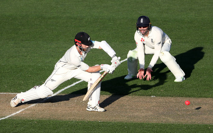 New Zealand's Kane Williamson plays a shot. Picture: AFP