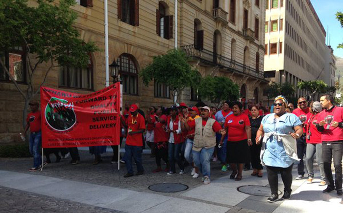 FILE: A strike by parliamentary support staff is now in its second week. Picture: Rahima Essop/EWN.