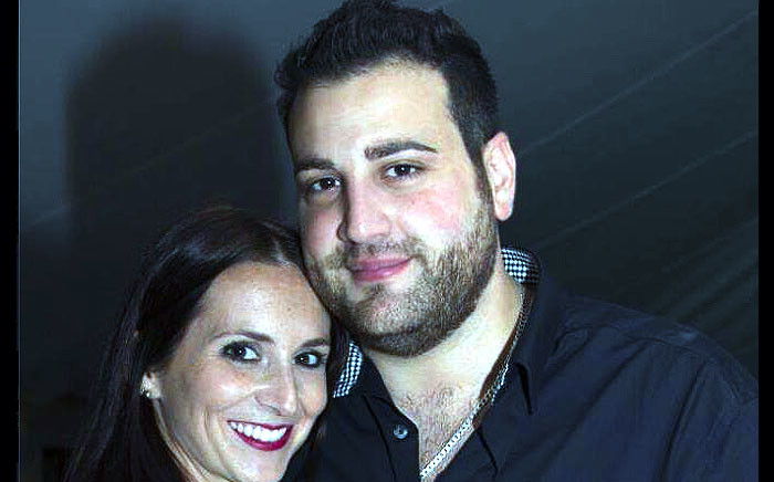Jayde Panayiotou poses with her husband Christopher. Picture: Facebook.