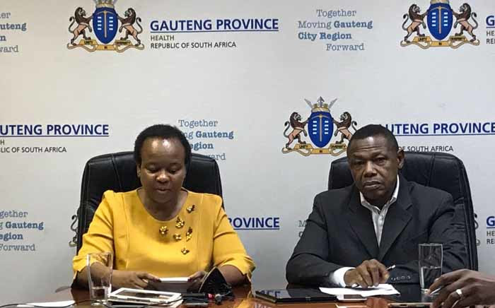 Health MEC Gwen Ramokgopa announcing that the strike by forensic pathologists is officially over on 2 July 2017. Picture: Masego Rahlaga/EWN