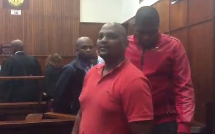 Three men arrested in connection with the violence at the Moses Mabhida Stadium leaving the Durban Regional Court after being granted bail. Picture: Ziyanda Ngcobo/EWN