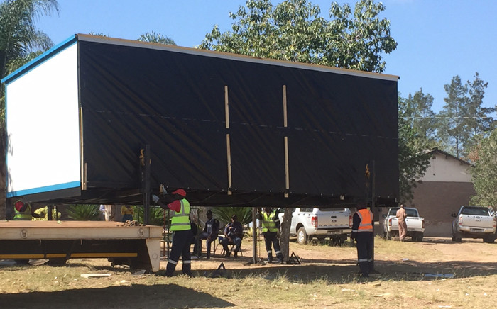 The Basic Education Department delivered 74 mobile classrooms in Limpopo to assist schools affected by violent protests in Vuwani and surrounding areas. Picture: Kgothatso Mogale/EWN.