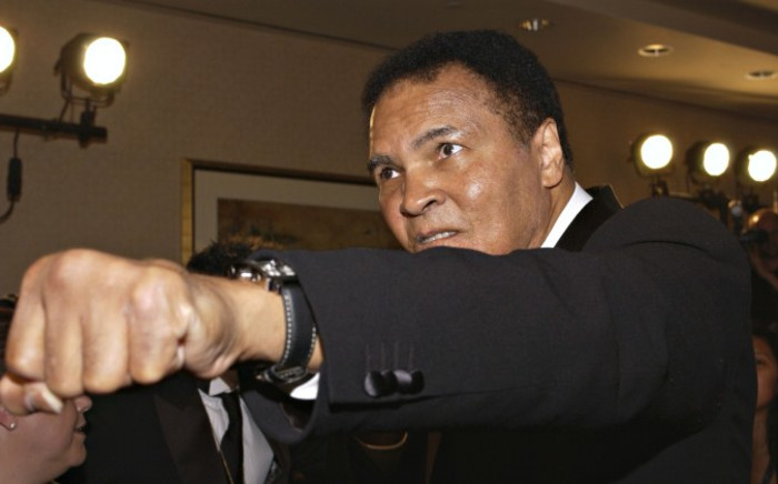 A file photo of boxer Muhammad Ali in Los Angeles, California, in 2005. Picture: AFP/Getty Images.