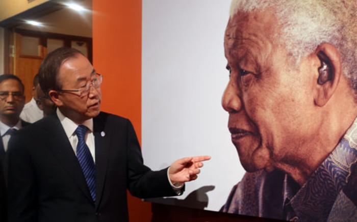 United Nations Secretary General Ban Ki-moon at the Nelson Mandela Centre of Memory, 9 December 2013. Picture: Sebabatso Mosamo/EWN.