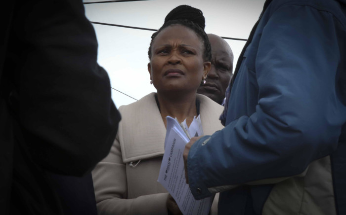 FILE: Advocate Busisiwe Mkhwebane visited Masiphumelele as part of the Public Protector Roadshow.  Picture: Cindy Archillies/EWN