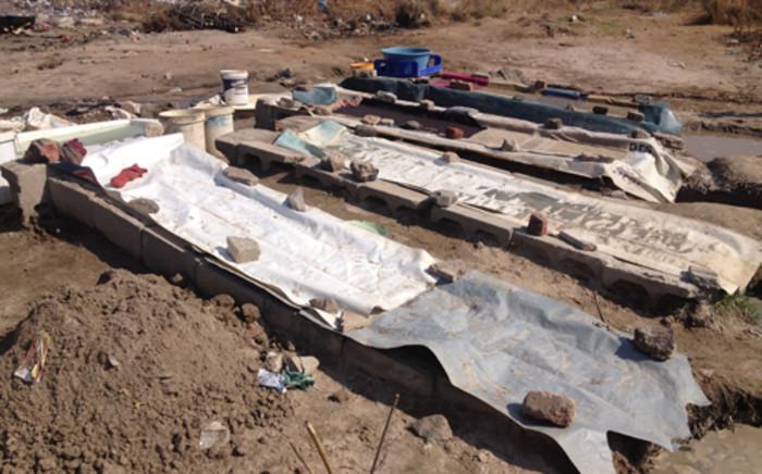 An illegal mining site in Gauteng. Picture: Christa van der Walt/EWN.