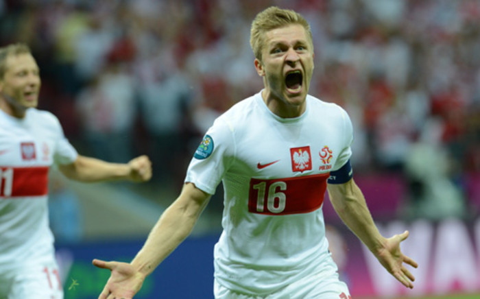 Jakub Blaszczykowski celebrates after scoring a stunning goal against Russia at the Euro 2012. Picture: AFP