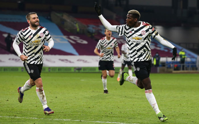 Manchester UNited's Luke Shaw and Paul Pogba celebrate a goal. Picture: @ManUtd/Twitter