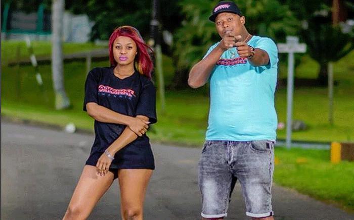 Former couple Mandla 'Mampintsha' Maphumulo and Bongekile 'Babes Wodumo' Simelane. Picture: @babes_wodumo/Instagram.
