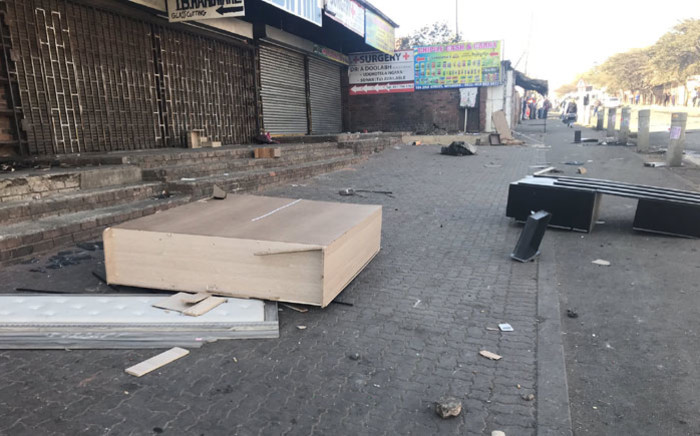 The aftermath of looting in Alexandra, Johannesburg on 3 September 2019. Picture: Bonga Dlulane/EWN