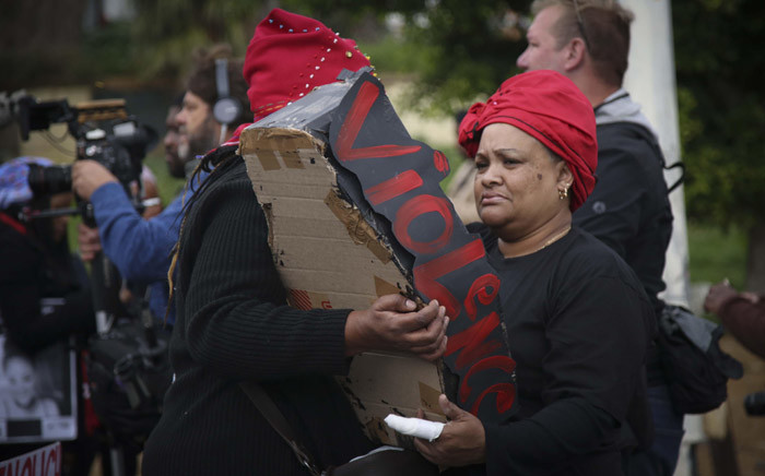 Women in Cape Town marched from Keizergracht to Parliament against gender-based violence under the banner #TotalShutDown on 1 August 2018. Picture: Cindy Archillies/EWN