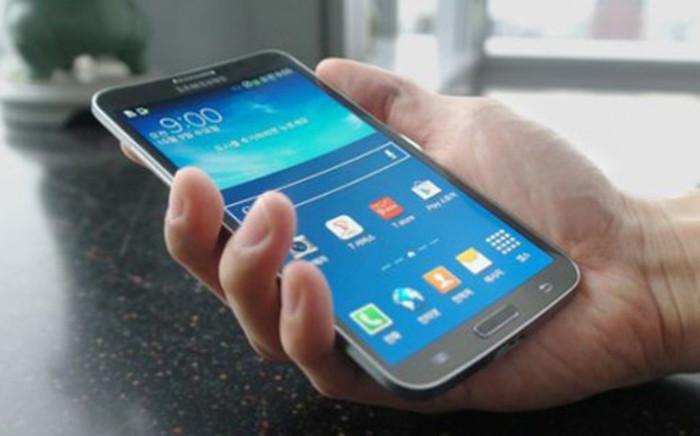 Samsung's new Galaxy Round. Picture: Supplied