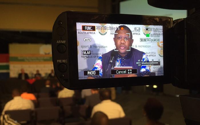 Sports Minister Fikile Mbalula. Picture: Vumani Mkhize/EWN.