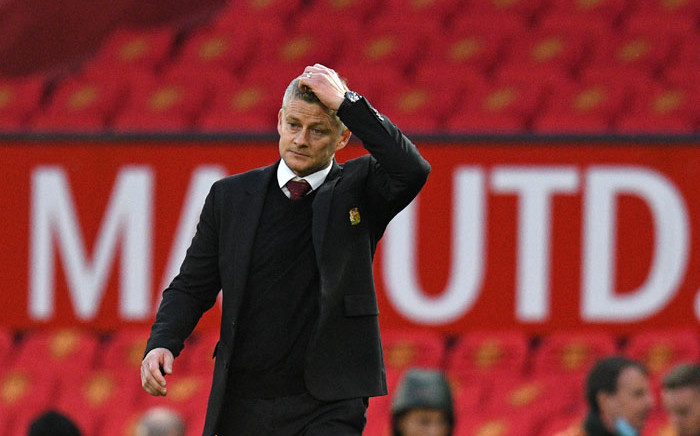 Manchester United manager Ole Gunnar Solskjaer walks off the pitch at the end of the game during the English Premier League football match between Manchester United and Tottenham Hotspur at Old Trafford in Manchester, north west England, on 4 October 2020. Picture: AFP