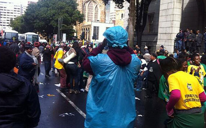 ANC Women's League members march in wet Cape Town on 30 August 2013. Picture: Siyabonga Sesant/EWN