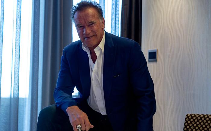 Fitness ambassador Arnold Schwarzenegger speaks to EWN on 17 May 2019. Picture: Kayleen Morgan/EWN