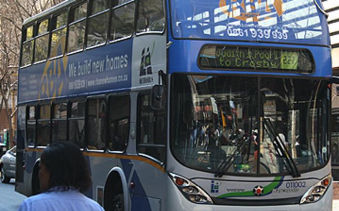 A metro bus in the Johannesburg CBD. Picture: Taurai Maduna/Eyewitness News