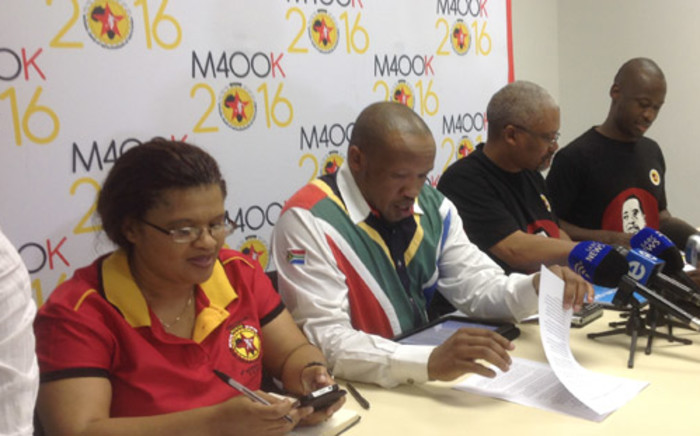 Numsa general secretary Irvin Jim (second from left). Picture: Stephen Grootes/EWN.