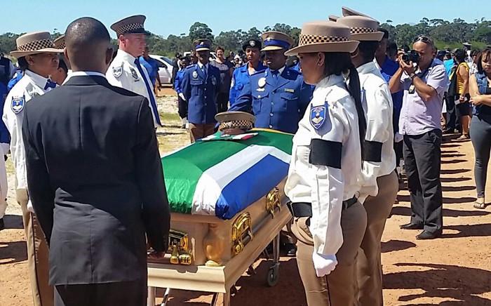 Constable Ben Koopman has been laid to rest at the Welmoed graveyard in Eerste River. Picture: City of Cape Town.
