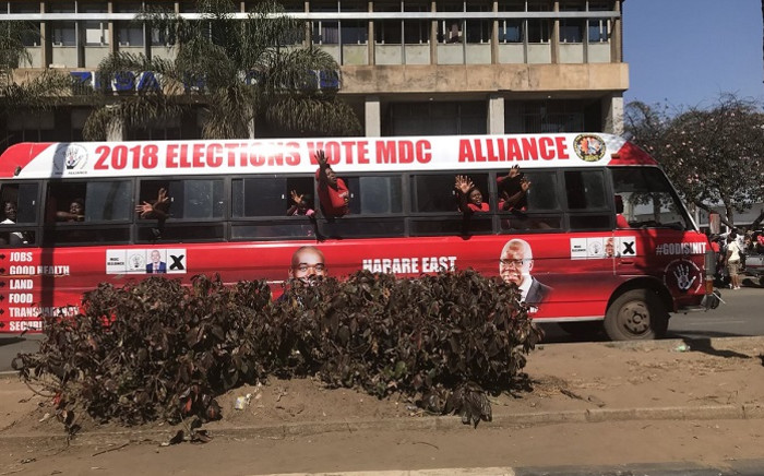 MDC Alliance supporters at a pre-election rally. Picture: Masechaba Sefularo/EWN