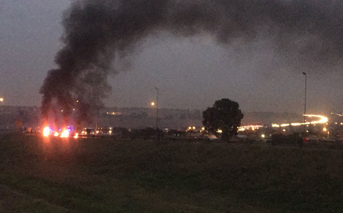 FILE: Protest action on the Golden Highway in Gauteng. Picture: EWN Traffic.