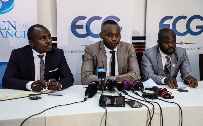 Shepherd Bushiri's Enlightened Christian Gathering (ECG) church representatives update the media on the investigation into the deaths that happened in the church. Picture: Abigail Javier/EWN.