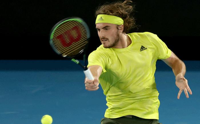 Greece's Stefanos Tsitsipas beat Rafael Nadal in the Australian Open quarter-finals on 17 February 2021. Picture: @AustralianOpen/Twitter.
