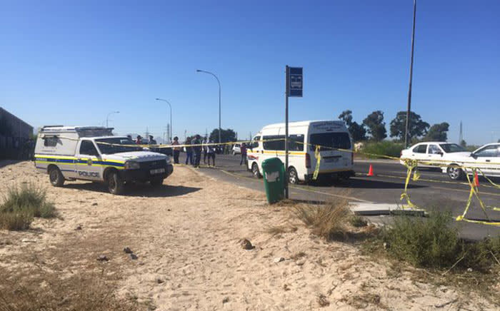 Police on the scene of a shooting in which four people were killed in Kuils River on Monday 14 March 2016. Picture: Monique Mortlock/EWN