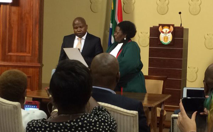 David van Rooyen was sworn in as South Africa's new Finance Minister on 10 December, 2015. Picture: Barry Bateman/EWN.