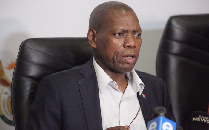 Health Minister Zweli Mkhize speaks at an inter-ministerial briefing in Pretoria on the coronavirus situation in South Africa on 9 March 2020. Picture: Kayleen Morgan/EWN
