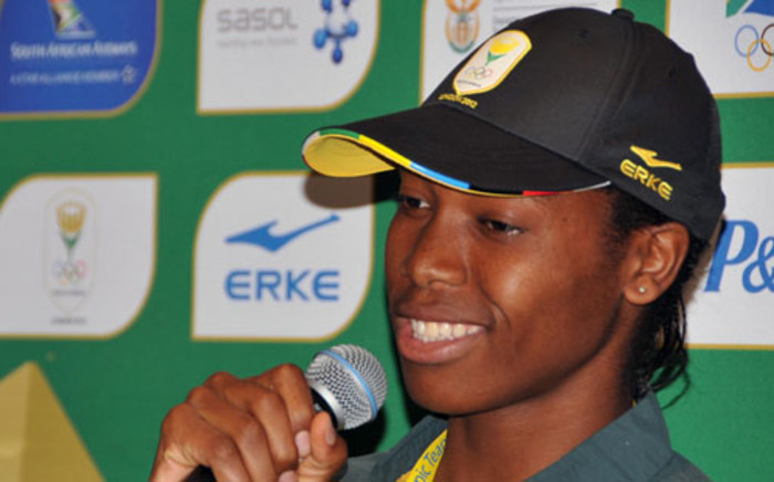 Caster Semenya, 800m medallist prospect, at a press conference at the Team SA media centre at Copthorne Hotel. Picture: Wessel Oosthuizen/ SA Sports Picture Agenc