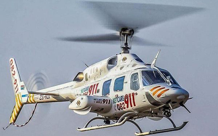 Netcare 911 helicopter. Picture: @Netcare911_sa.