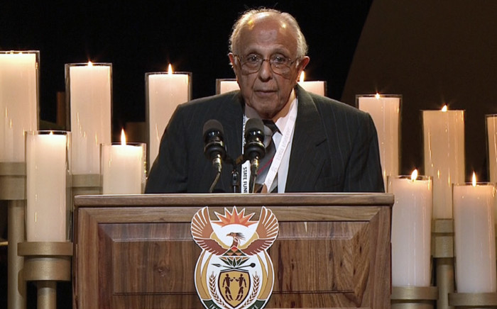 Struggle stalwart Ahmed Kathrada has been praised as a selfless leader and an inspiration to South Africans. Picture: Masego Rahlaga/EWN.
