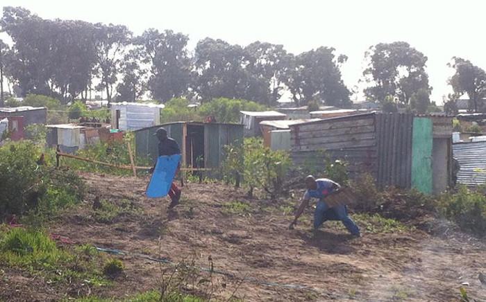 FILE: Marikana informal settlers in Phillipi East in 2014. Picture: EWN.
