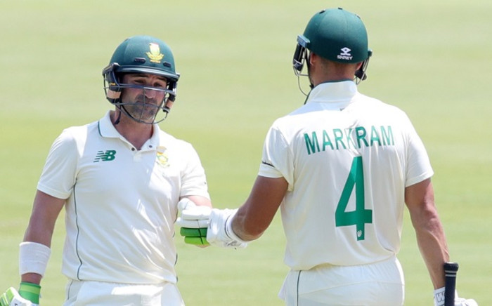 Proteas openers Dean Elgar and Aiden Markram. Picture: AFP