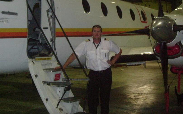 South African pilot Charl Viljoen on 23 March 2019 allegedly took his life by flying a twin-engine aircraft into a building in Botswana in attempt to kill his wife. Picture: Facebook/Aerospaceafricatv