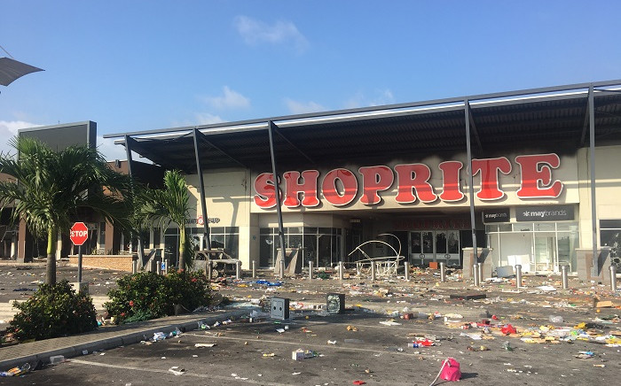 The Shoprite shopping mall in Lekki Phase 2 was looted on 22 October 2020, after the army repressed peaceful protestors gathered at the Lekki Toll Gate in Lago, Nigeria despite curfew. Picture: AFP