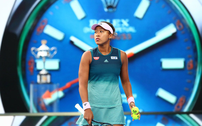 World number one Naomi Osaka in action during the Australian Open final against Czech Petra Kvitova. Picture: @AustralianOpen/Twitter.