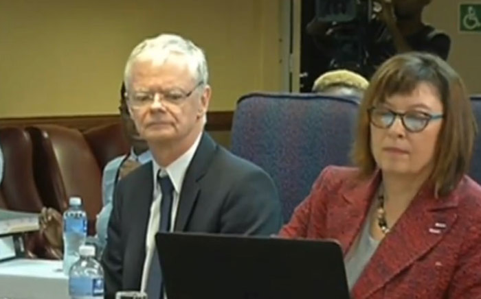A screengrab of deputy national director of public prosecutions Willie Hofmeyr giving evidence at the Mokgoro Inquiry on 31 January 2019.