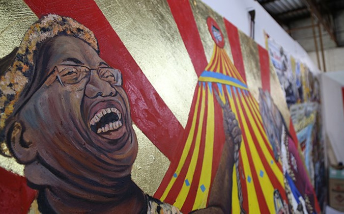 FILE: Artist Ayanda Mabulu's painting which depicts a nude President Jacob Zuma with a naked young girl has received mixed reactions nationwide. Picture: Reinart Toerien/EWN.