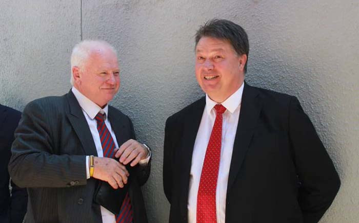 Advocates Mike Hellens and Dawie Joubert had their passports confiscated in Namibia on 29 November 2019 for working without permits. Picture: @NewEraNewspaper/Twitter