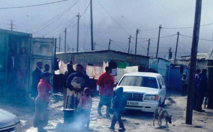 Khayelitsha residents have heavily affected by rainy and cold weather conditions in Cape Town. Picture: Shamiela Fisher/EWN.