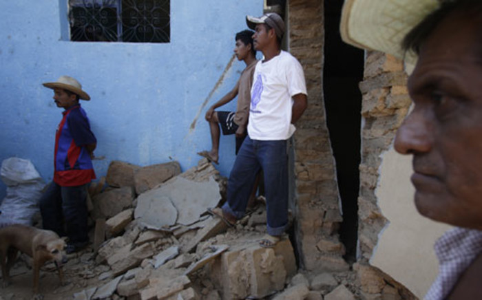 FILE PICTURE: Victim's of a South American earthquake. Picture: AFP.