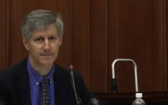 A screengrab shows Dr James Butler at the Western Cape High Court on 27 November 2017 during Henri Van Breda's trial. Picture: News24/youtube.com