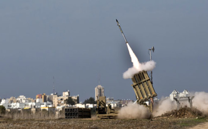 FILE: An Israeli missile is launched from the Iron Dome defence missile system. Picture: AFP