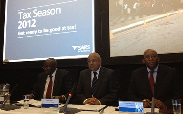 Finance Deputy Minister, Minister Pravin Gordhan and SARS Commissioner Oupa Magashula at launch the 2012 Tax Season on 2 July 2012. Picture: Barry Bateman