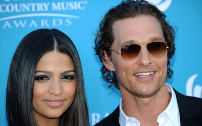 Actor Matthew McConaughey and his wife Camila Alves. Picture: AFP