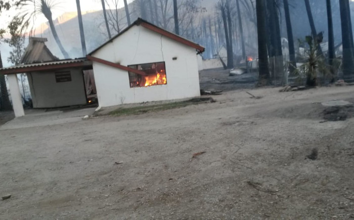 A house gutted by fire in Wupperthal. Picture: Supplied.