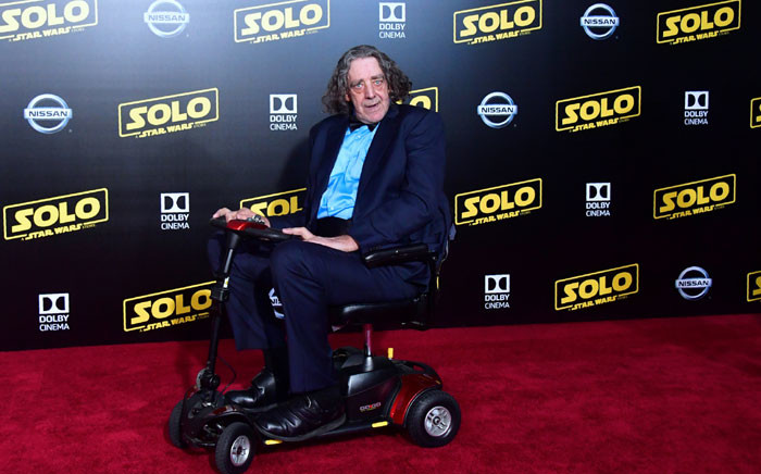 In this file photo taken on 10 May 2018 actor Peter Mayhew, who played the original Chewbacca, arrives for the premiere of the film 'Solo: A Star Wars Story' in Hollywood, California. Picture: AFP