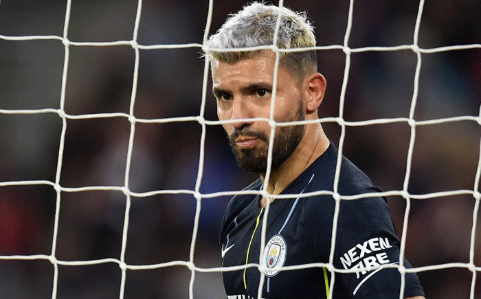 Manchester City's Argentinian striker Sergio Aguero looks on during the English Premier League football match between Southampton and Manchester City at St Mary's Stadium in Southampton, southern England on 30 December, 2018. Picture: AFP.